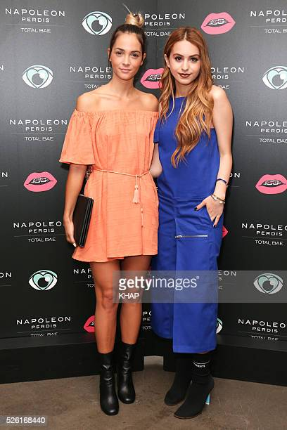 Napoleon Perdis launch 'Total Bae' range with Lianna Perdis on April 28 2016 in Sydney Australia