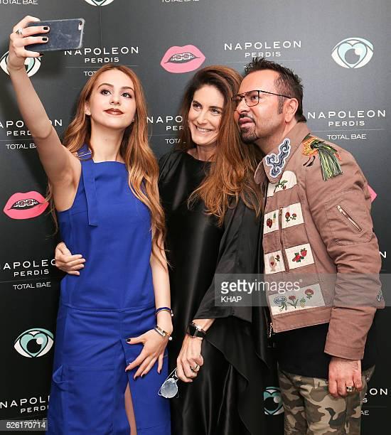 Napoleon Perdis launch 'Total Bae' range with Lianna Perdis on April 28 2016 in Sydney Australia