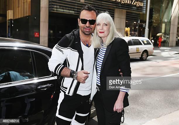 Napoleon Perdis poses alongside Donna Player at the David Jones Elizabeth Street Store on March 5 2015 in Sydney Australia