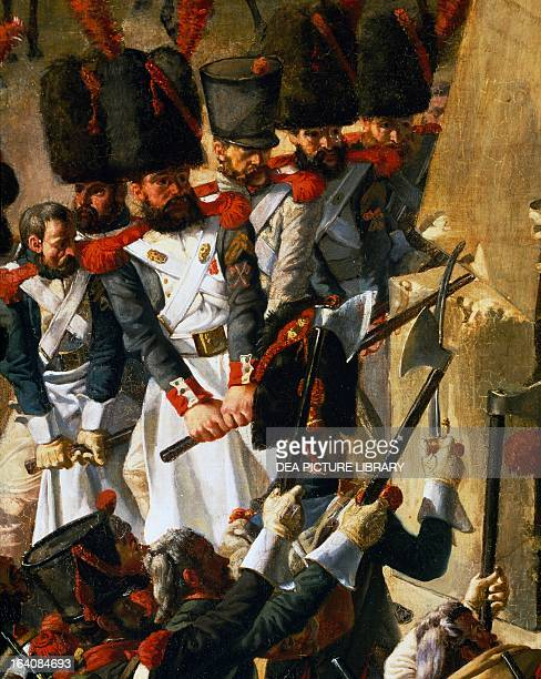 Napoleonic Wars Battle of Jena demolition of Rosbach's column which commemorated the victory of the Prussians over the French in 1757 October 18...