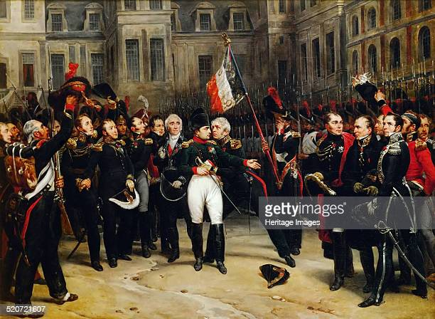 Napoleon's farewell to the Imperial Guard in the courtyard of the Palace of Fontainebleau on 20 April 1814 Found in the collection of Musée de...