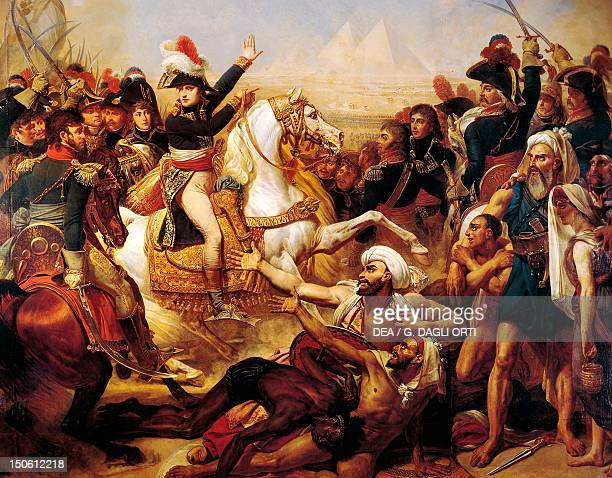 Napoleons Speech to his Army before the Battle of the Pyramids July 21 by AntoineJean Gros oil on canvas 389x511 cm Detail French Revolutionary Wars...