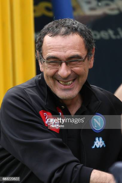 Napoli coach Maurizio Sarri during the Serie A match between FC Torino and SSC Napoli at Stadio Olimpico di Torino on May 14 2017 in Turin Italy