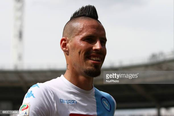 Napoli midfielder Marek Hamsik during the Serie A match between FC Torino and SSC Napoli at Stadio Olimpico di Torino on May 14 2017 in Turin Italy