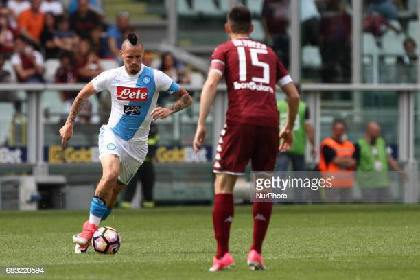 Napoli midfielder Marek Hamsik in action during the Serie A match between FC Torino and SSC Napoli at Stadio Olimpico di Torino on May 14 2017 in...