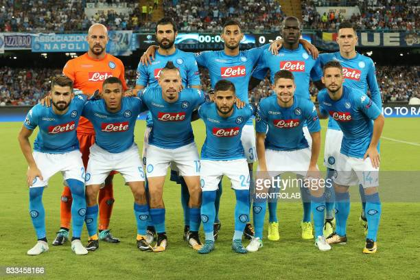 Napoli team during the match between SSC Napoli and OGC Nice for UEFA Champions League playoff qualification Napoli wins 2 to 0 on Nice