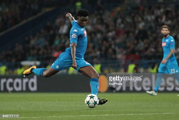 Napoli's Amadou Diawara controls the ball during the group stage match of the Champions League group F between FC Shakhtar and Napoli at Metalist...
