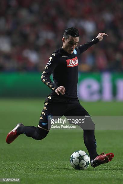 Napoli«s forward Jose Maria Callejon from Spain during the UEFA Champions League group B match between SL Benfica v SSC Napoli at Estadio da Luz on...