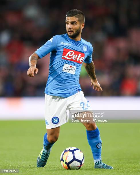 Napoli's Lorenzo Insigne during the preseason friendly at the Vitality Stadium Bournemouth