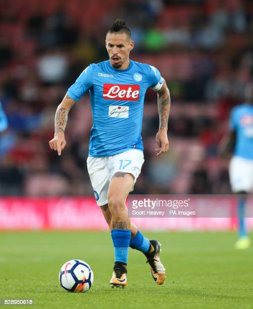 Napoli's Marek Hamsik during the preseason friendly at the Vitality Stadium Bournemouth