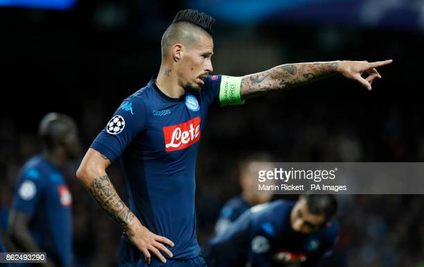 Napoli's Marek Hamsik during the UEFA Champions League group F match at The Etihad Stadium Manchester PRESS ASSOCIATION Photo Picture date Tuesday...