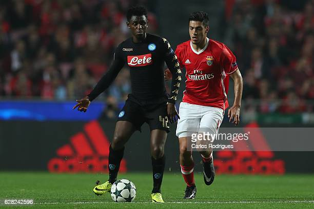 Napoli«s midfielder Amadou Diawara from Guinea during the UEFA Champions League group B match between SL Benfica v SSC Napoli at Estadio da Luz on...