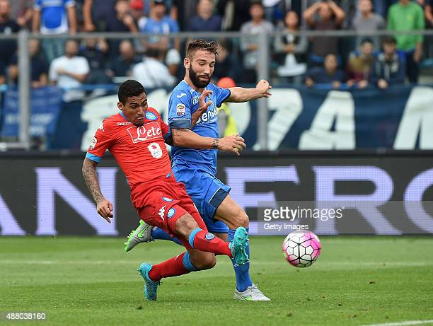 Napoli's player Allan Marques Loureiro scores the goal of 22 during the Serie A match between Empoli FC SSC Napoli at Stadio Carlo Castellani on...