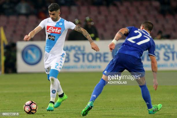STADIUM NAPOLI CAMPANIA ITALY Napoli's player Elseid Hysaj during the Italian Tim Cup football match between SSC Napoli and FC Juventus at San Paolo...