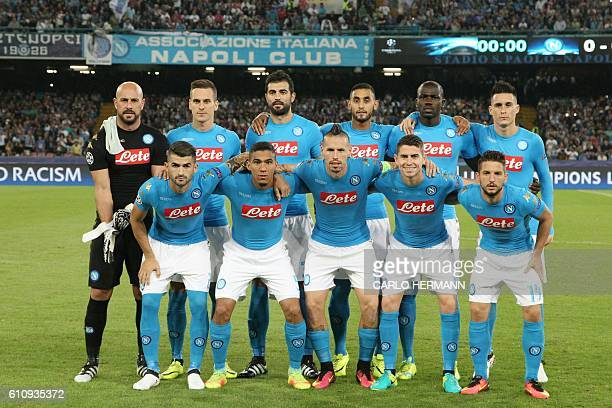 Napoli's team players Napoli's goalkeeper from Spain Pepe Reina Napoli's forward from Poland Arkadiusz Milik Napoli's defender from Spain Raul Albiol...