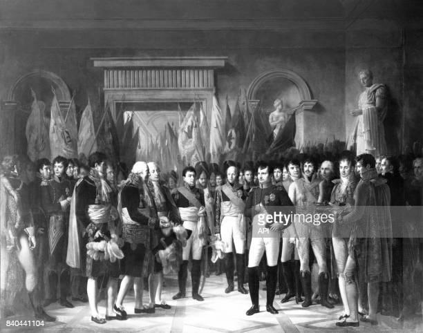 Napoléon Bonaparte recevant les députés du Sénat conservateur au palais royal de Berlin le 19 novembre 1806 peinture réalisée par René Théodore...