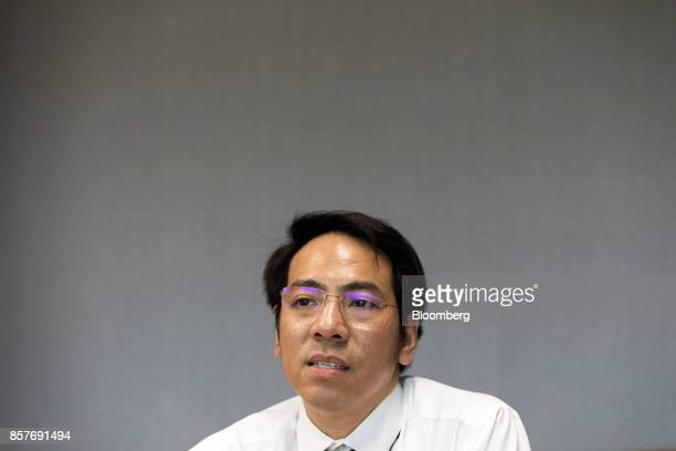 Napongthawat Phothikit director of payment systems policy at the Bank of Thailand speaks during an interview in Bangkok Thailand on Thursday Sept 28...