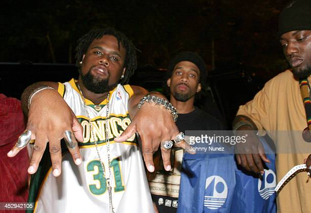 Nappy Roots' Big V Ron Clutch and Scales during House Of Courvoisier Presents Phat Classics Miami Party at Bed in Miami Florida United States