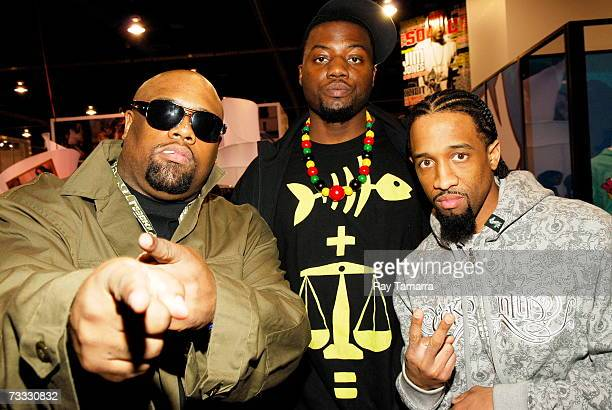Nappy Roots members Big V Fishscales and Ron Clutch attend the MAGIC Convention at the Las Vegas Convention Center February 14 2007 in Las Vegas...