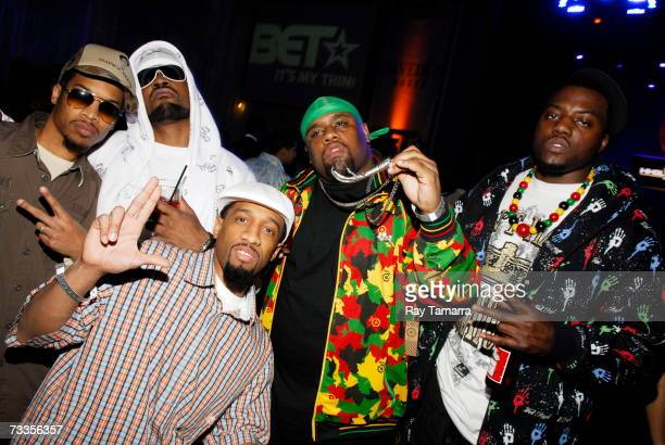 Nappy Roots members Skinny B Stille Ron Clutch Big V and Fishscales attend the 'Back To Basics' BET AllStar Bash at the Hard Rock Hotel February 16...