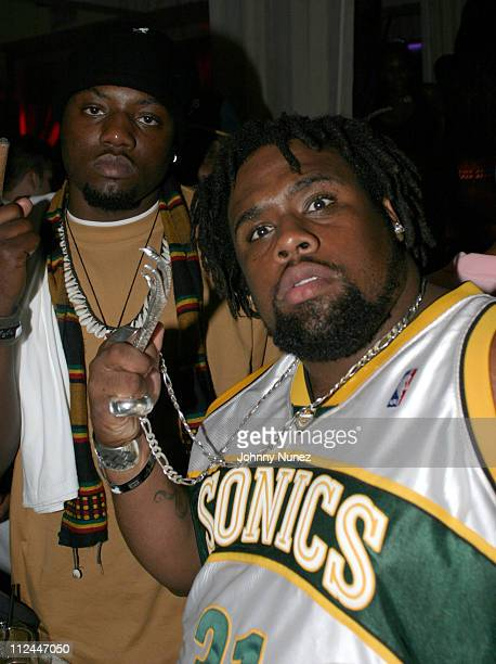 Nappy Roots' Scales and Big V during House Of Courvoisier Presents Phat Classics Miami Party at Bed in Miami Florida United States