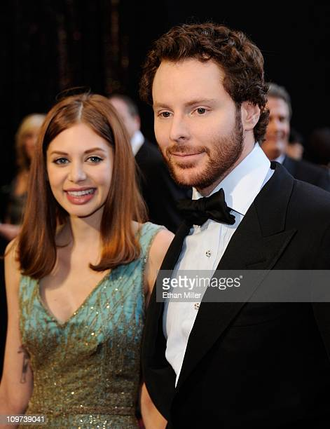 Napster cofounder and Facebook founding president Sean Parker and his girlfriend Alexandra Lenas arrive at the 83rd Annual Academy Awards at the...