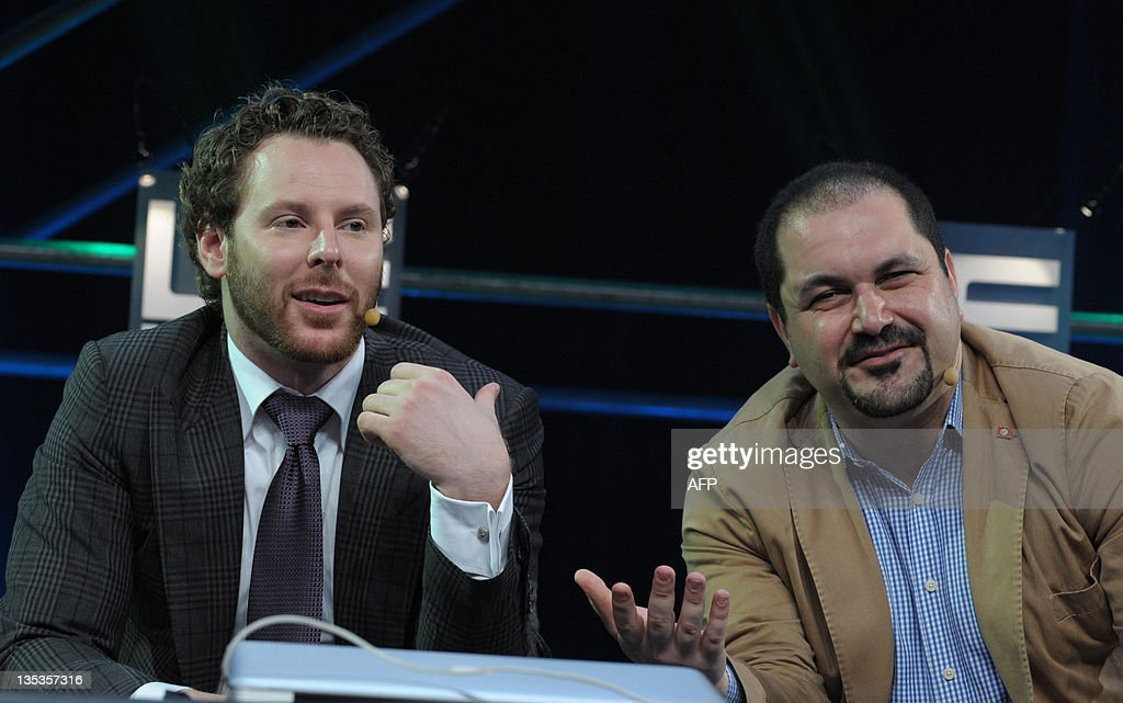 Napster co-founder, Sean Parker, General Partner of Founders Fund (L) speaks with Menlo Ventures Managing Director Shervin Pishevar (R) during a session at LeWeb 11 event in Saint-Denis, suburbs of Paris, on December 9, 2011. Top industry entrepreneurs, executives, investors, senior press and bloggers gathered during three days to explore the key issues and opportunities in the web marketplace.