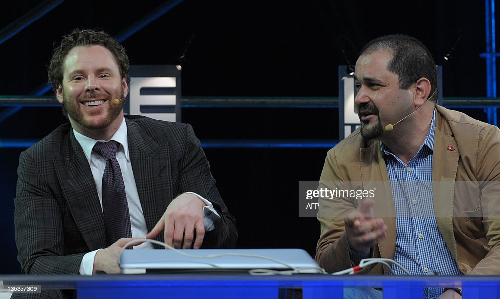Napster co-founder, Sean Parker, General Partner of Founders Fund (L) listens to Menlo Ventures Managing Director Shervin Pishevar (R) during a session at LeWeb 11 event in Saint-Denis, suburbs of Paris, on December 9, 2011. Top industry entrepreneurs, executives, investors, senior press and bloggers gathered during three days to explore the key issues and opportunities in the web marketplace.