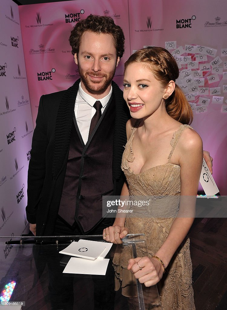 Napster founder and Facebook's founding president Sean Parker and guest arrives at the Montblanc Cocktail Party co-hosted by Harvey and Bob Weinstein celebrating the Weinstein Company's Academy Award Nominees and the New Montblanc Charity Partnership with the Princess Grace Foundation-USA at Soho House on February 26, 2011 in West Hollywood, California.