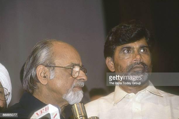 Nara Chandrababu Naidu Chief Minister of Andhra Pradesh with Indra Kumar Gujaral