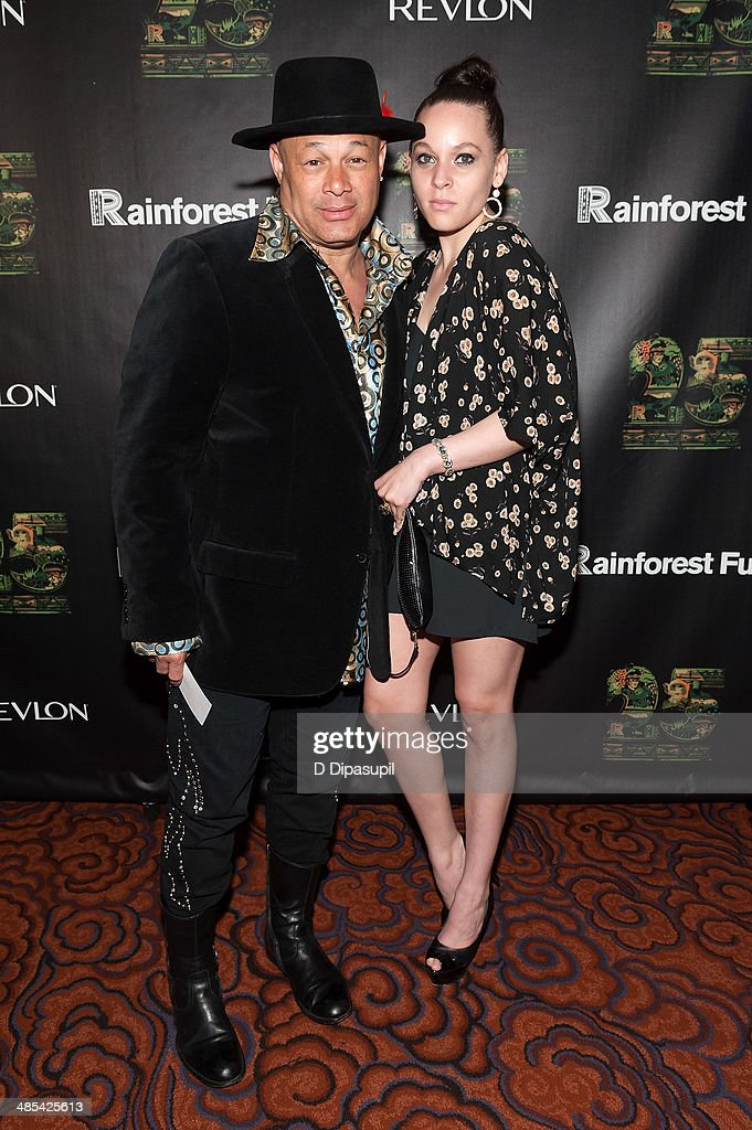 Narada Michael Walden (L) and Cheyenne Elliott attend the after party for the 25th Anniversary concert for the Rainforest Fund at the Mandarin Oriental Hotel on April 17, 2014 in New York City.