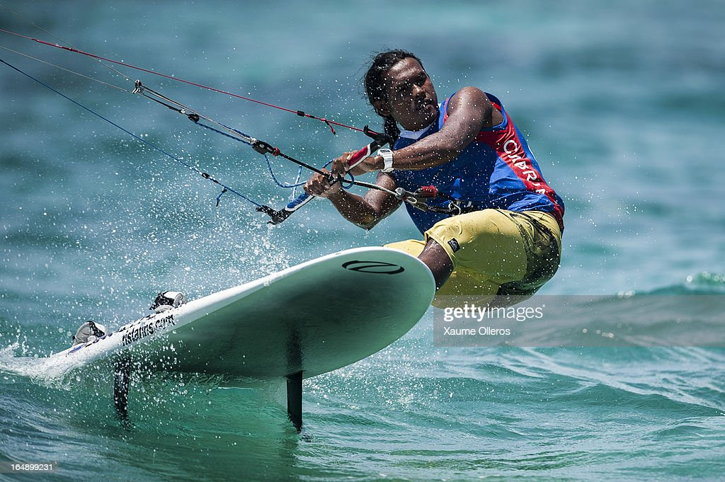 Narapichit Pudla of Thailand competes in Race board racing during day four of the KTA at Boracay Island on March 29, 2013 in Makati, Philippines.