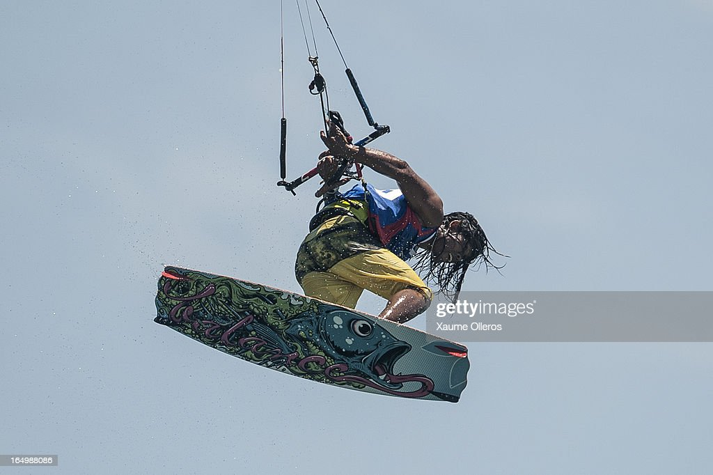 Narapichit Pudla of Thailand competes on freestyle during day five of the KTA at Boracay Island on March 30, 2013 in Makati, Philippines.