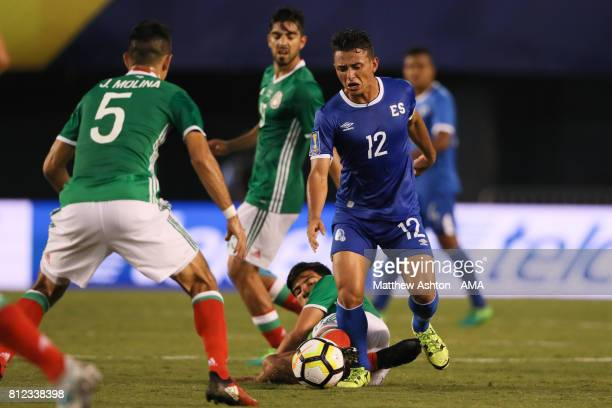 Narciso Orellana of El Salvador during the 2017 CONCACAF Gold Cup Group C match between Mexico and El Salvador at Qualcomm Stadium on July 9 2017 in...