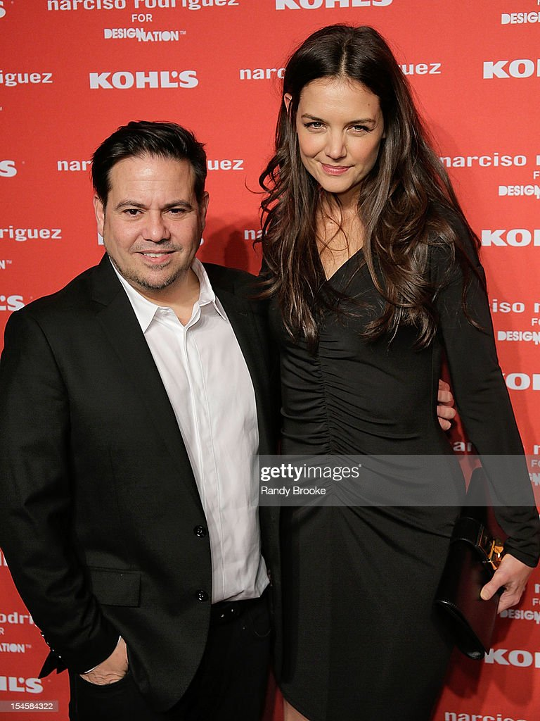 Narciso Rodriguez and <a gi-track='captionPersonalityLinkClicked' href=/galleries/search?phrase=Katie+Holmes&family=editorial&specificpeople=201598 ng-click='$event.stopPropagation()'>Katie Holmes</a> attend Narciso Rodriguez For Kohl's DesigNation Collection Launch at IAC Building on October 22, 2012 in New York City.