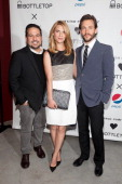 Narciso Rodriguez Claire Danes and Hugh Dancy attend the Narciso Rodriguez Bottletop Collection x Pepsi US Launch at Sikkema Jenkins And Co Gallery...