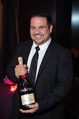 Narciso Rodriguez toasts with Moët and Chandon at the Vanidades Icons of Style event at the Mandarin Oriental Hotel on September 18 2014 in New York...