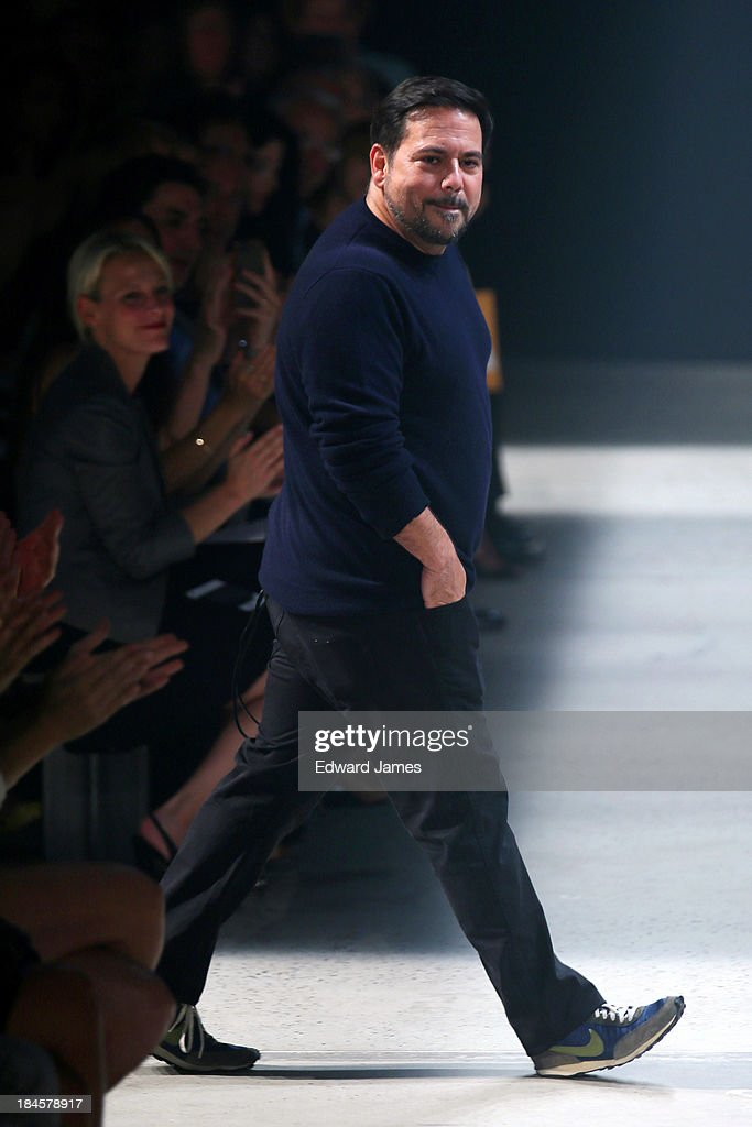 Narciso Rodriguez walks the runway at the Narciso Rodriguez fashion show during Mercedes-Benz Fashion Week Spring 2014 at Sir Stage37 on September 10, 2013 in New York City.