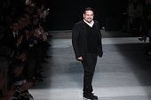 Narciso Rodriguez walks the runway during the Narciso Rodriguez show as a part of Fall 2016 New York Fashion Week at SIR Stage37 on February 16 2016...