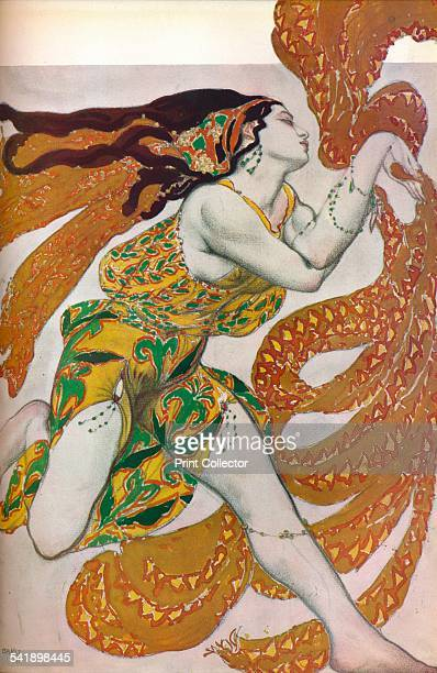'Narcisse A Bacchante Costume design for the dance Narcisse' 1911 From The Studio Volume 105 [The Offices of the Studio Ltd London 1933]Artist Leon...