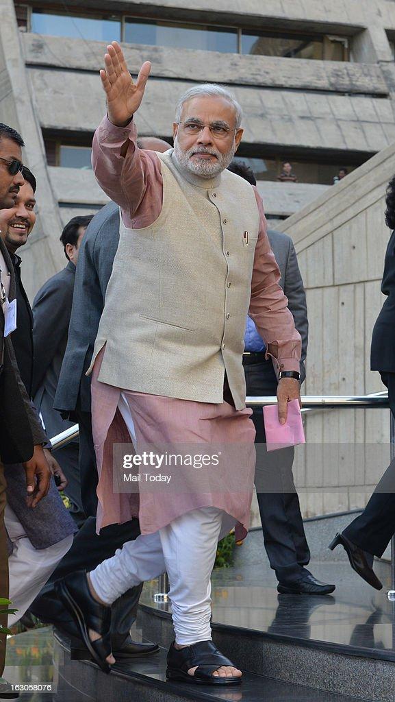 Narendra Modi at BJP National Executive in New Delhi on Friday.