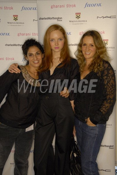 2146f94e4e Nargess Gharani and Vanya Strok andLily Cole backstage at Gharani Strok  Spring Summer 2007 (Photo by Nick Harvey WireImage)