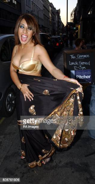 Narinder Kaur arriving at Nell's Bar in Dover Street London for 'A Night With Nick' a party in Aid of The Stroke Foundation