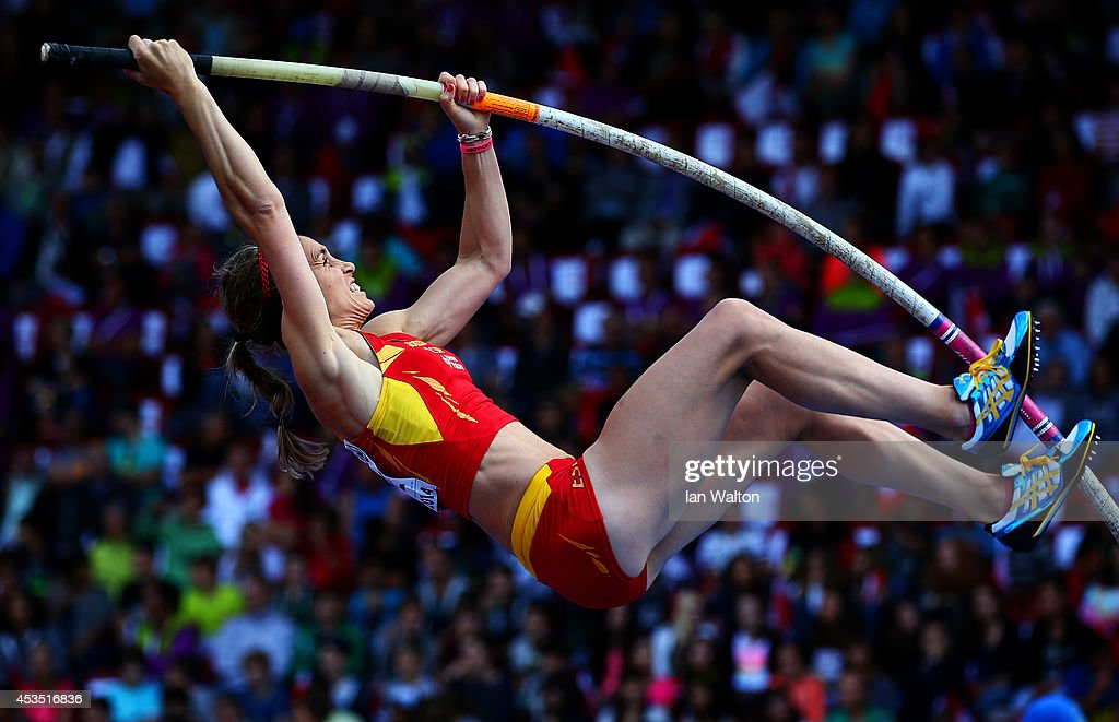 Naroa Agirre of Spain competes in the Women's Pole Vault qualification during day one of the 22nd European Athletics Championships at Stadium Letzigrund on August 12, 2014 in Zurich, Switzerland.