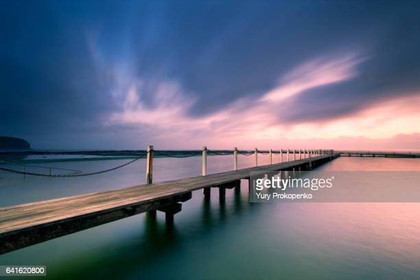 Narrabeen Pool Jetty at Sunrise
