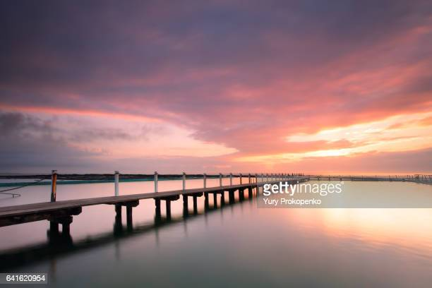 Narrabeen Pool Jetty Sunrise