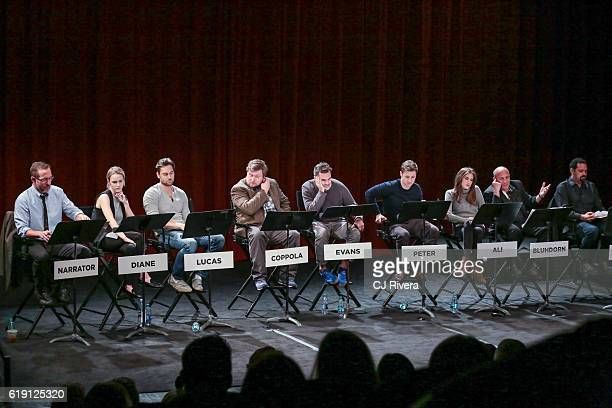Narrator Allison Williams Ryan Eggold Michael Chernus Paul Schneider and Ben McKenzie Rachel Brosnahan Paul BenVictor and Vincent Laresca performs at...