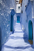 Narrow blue alley