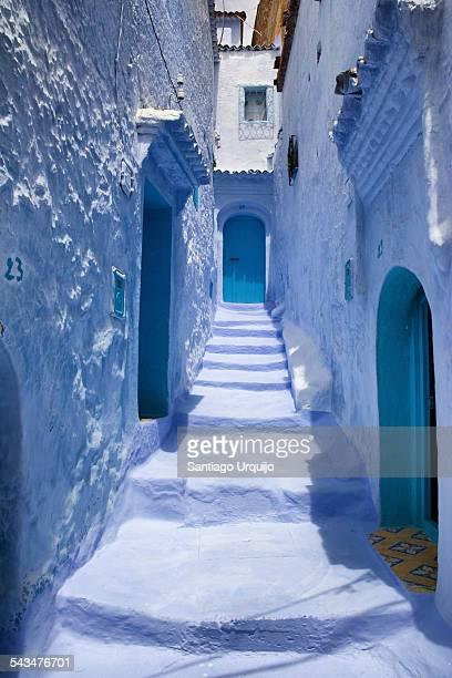 Narrow blue alley