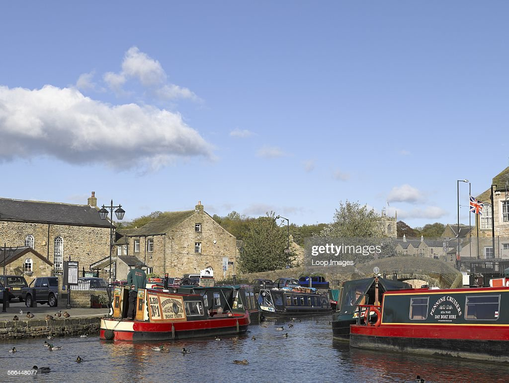Narrow boats for hire and boat trips on the Leeds and Liverpool canal.